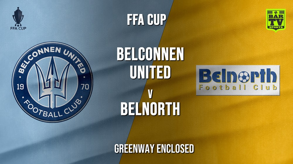 MINI GAME: FFA Cup Qualifying Canberra Belconnen United v Belnorth Slate Image
