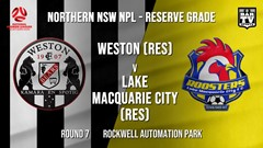 NPL NNSW RES Round 7 - Weston Workers FC (Res) v Lake Macquarie City FC (Res) Slate Image