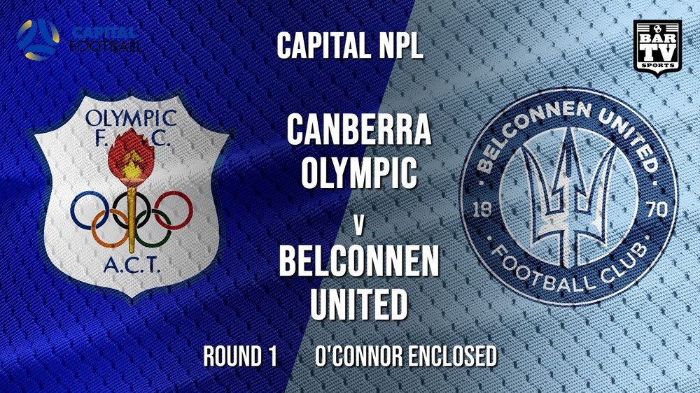 MINI GAME: NPL - Capital Round 1 - Canberra Olympic FC v Belconnen United FC Slate Image